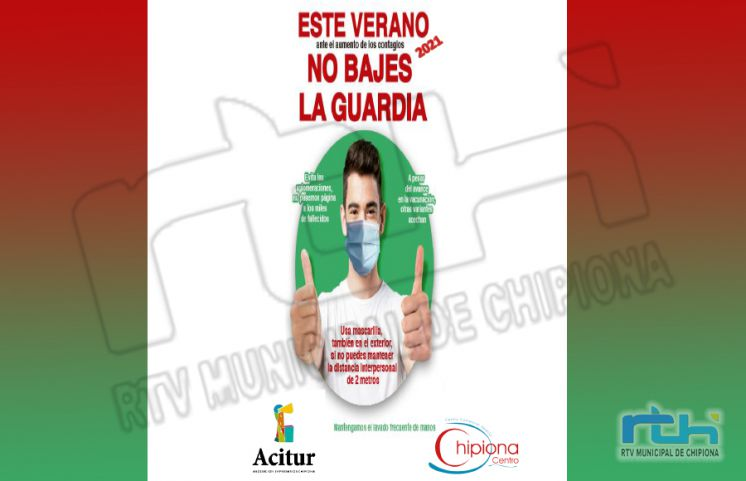 Acitur y Chipiona Centro difunden entre sus asociados una campaña para incentivar la prevención ante el Covid-19